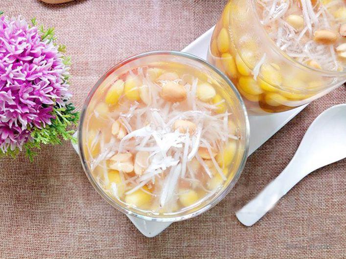 Cách nấu chè bắp hạt sen