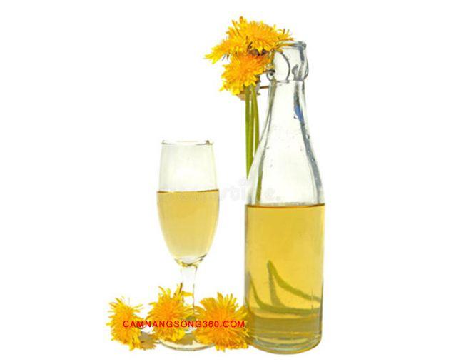 Hoa cúc vàng ngâm rượu
